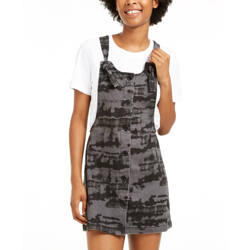 Tinseltown Juniors' Knotted Skirtall Black Size Large