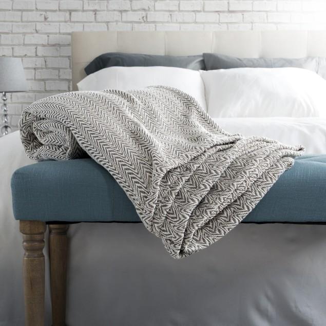 Lavish Home Chevron 100% Cotton Luxury Soft Blanket