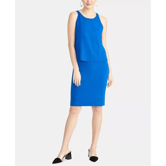 Rachel Rachel Roy Women's Split Back Sweater Tank Top Bright Blue Size 2XL