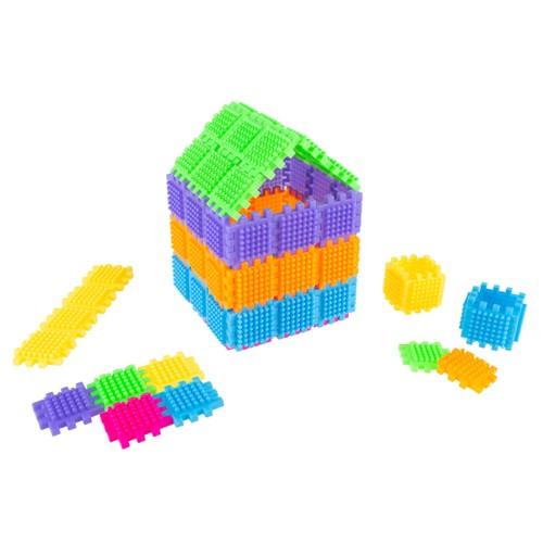 Brush Shape Building Set-182 Individual Tile Pieces for 3D STEM