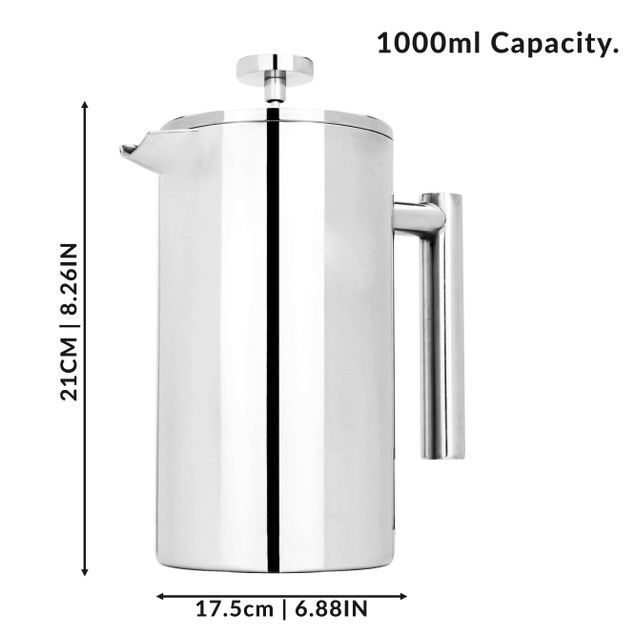 French Press Cafetiere Set | MandW 1000ml