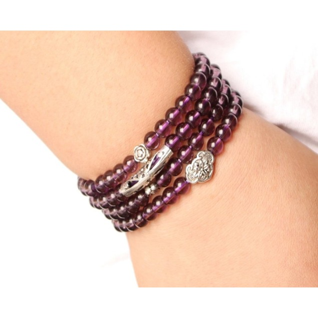 Novadab Iris Purpolic Charming Layered Bead Bracelet