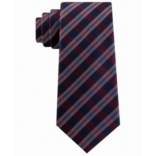Tommy Hilfiger Men's Brooklyn Classic Plaid Tie Red One Size
