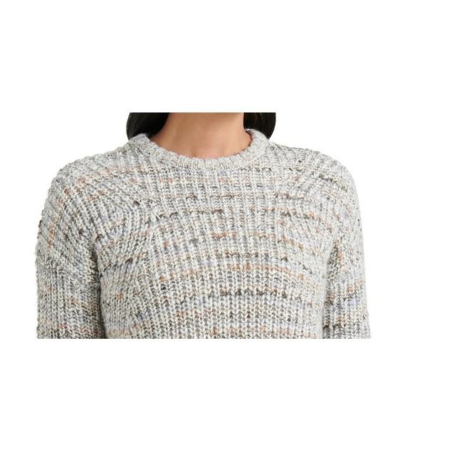 Lukcy Brand Women's Marled Crew Neck Sweater Gray Size Small