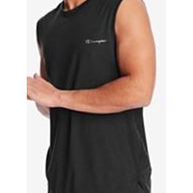 Ideology  Men's Mesh Trimmed Sleeveless T-Shirt Black Size Large