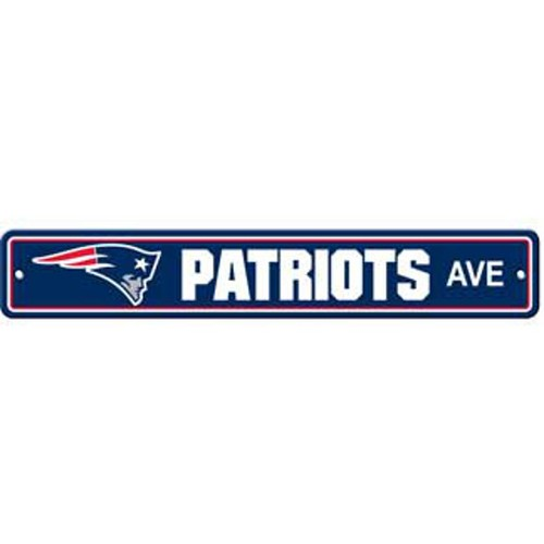 "New England Patriots Ave Street Sign 4""x24"" NFL Football Team Logo Man Cave"
