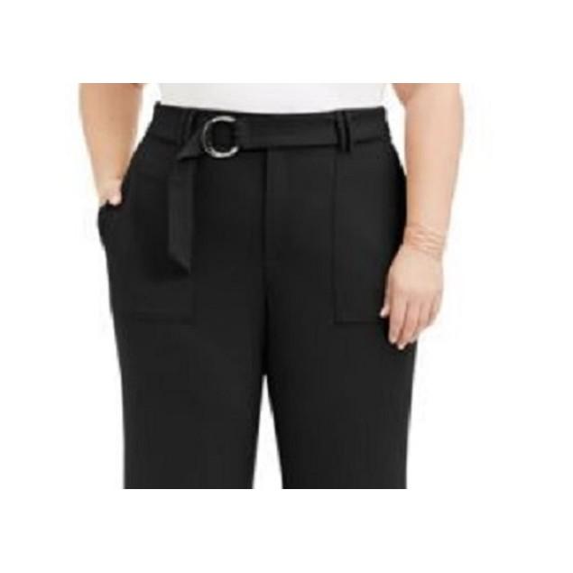 INC International Concepts Women's Plus Size Utility-Pocket Black Size 18W