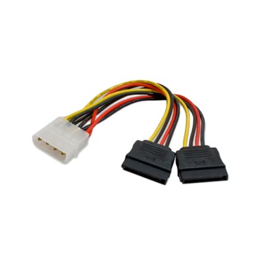 5 inch Molex To Dual SATA Power Connector Cable