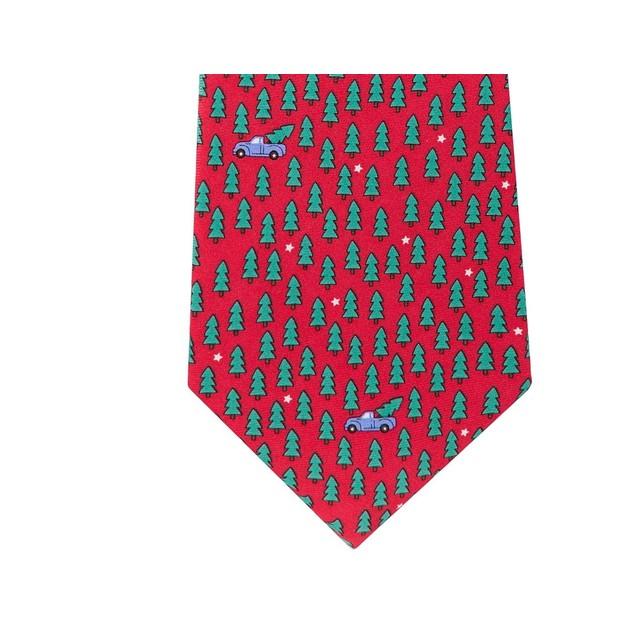 Tommy Hilfiger Men's Tree Pick Up Tie Red Size Regular