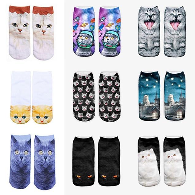 Unisex 3D Fashion Animal Ankle Socks