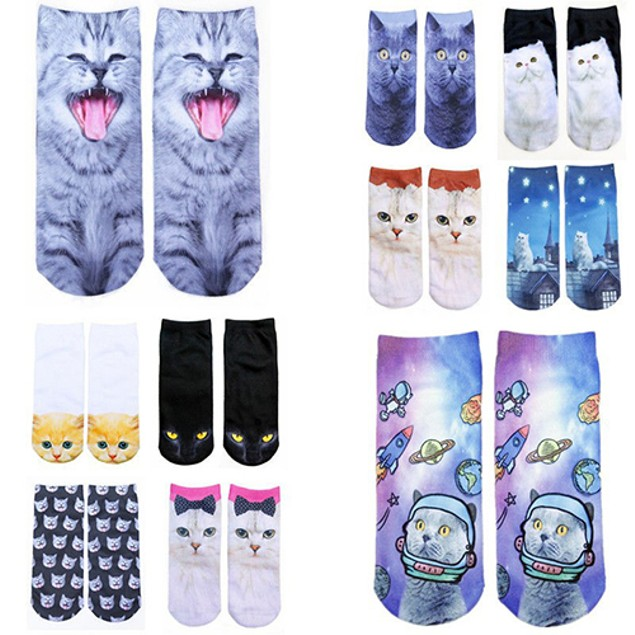 Unisex 3D Fashion Animal Ankle Socks