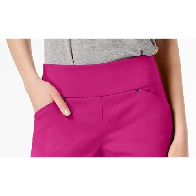 INC International Concepts Women's Curvy Pull-On Shorts Pink Size 10