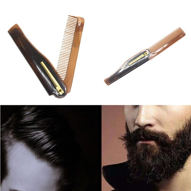 Men Combs Hairdressing Beauty Folding Beard And Hair Comb Beauty Tools  Y