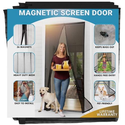 Hands-Free Magnetic Screen Door Mesh