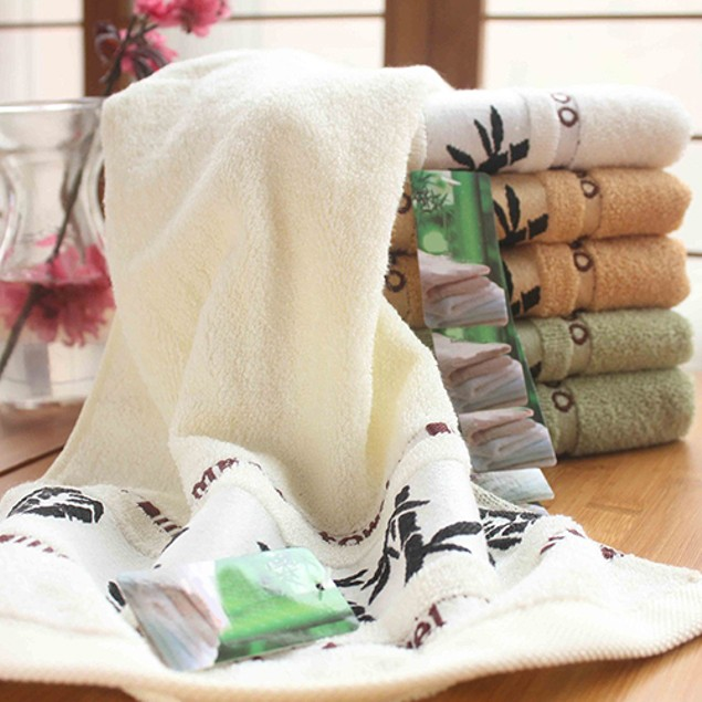 Ultra-soft Super Absorbent Bamboo Fabric Cotton Face Towel