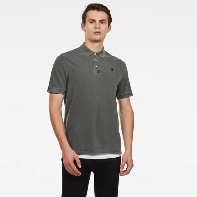 G-Star Raw Men's Halite Polo Shirt Gray Size Large