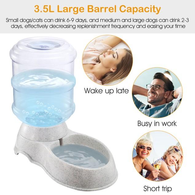 3.5L/1Gal Pet Water Dispenser Self-Dispensing Gravity Pets