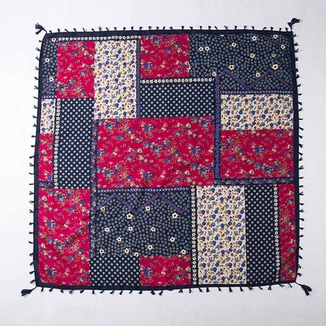 Fashion Lady Women Floral Prints Tassel Shawl Scarf J