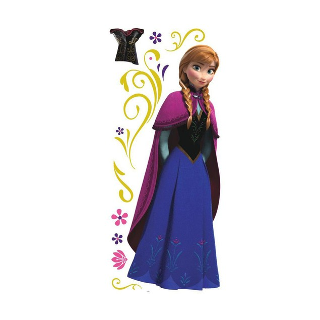 Roommates Wall Decorative Disney Frozen Anna with Cape Giant Wall Decals
