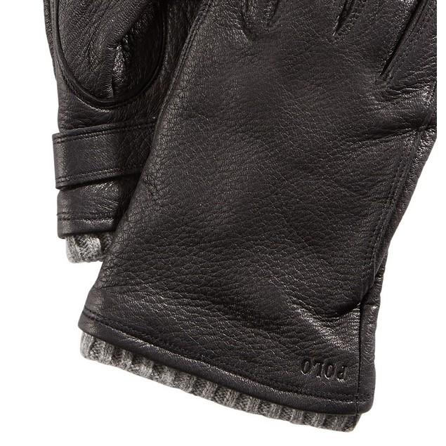 Polo Ralph Lauren Men's Leather Gloves Black Size Large