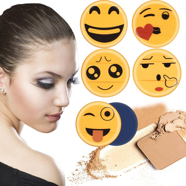 Cute Emoji Sponge Foundation Makeup Brush Powder Puff Brush