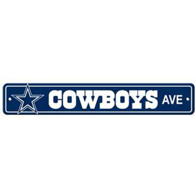 "Dallas Cowboys Ave Street Sign 4""x24"""