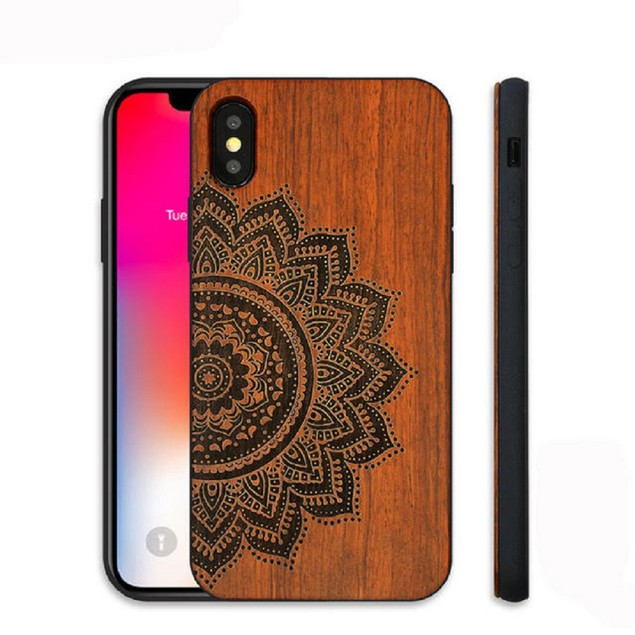 iPhone Wood Case For models: iPhone 7/8, iPhone 7/8 Plus, and iPhone X