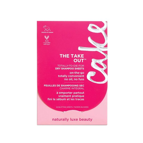 Cake Convenient Natural Luxe Beauty The Take Out Dry Shampoo Sheets