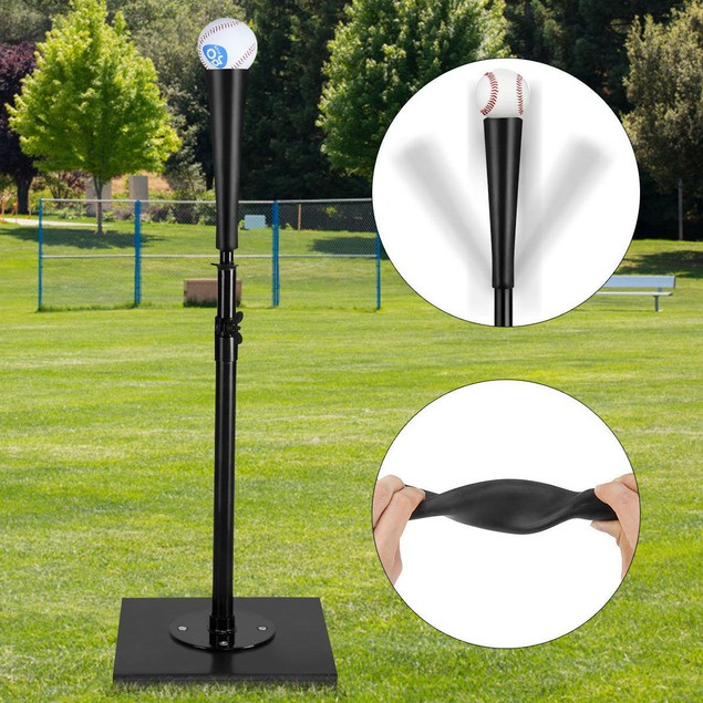 Goplus 36'' Adjustable Batting Tee for Baseball & Softball