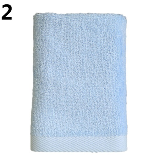 1Pc Bamboo Fiber Soft Washcloth Square Towel