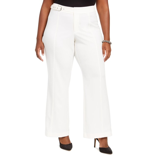 INC International Concepts Women's Side Belt Pants Natural Size 20W