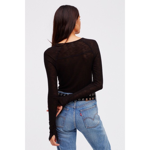 Bae Bae Layering Top by Intimately at Free People, Blk, SIZE XS