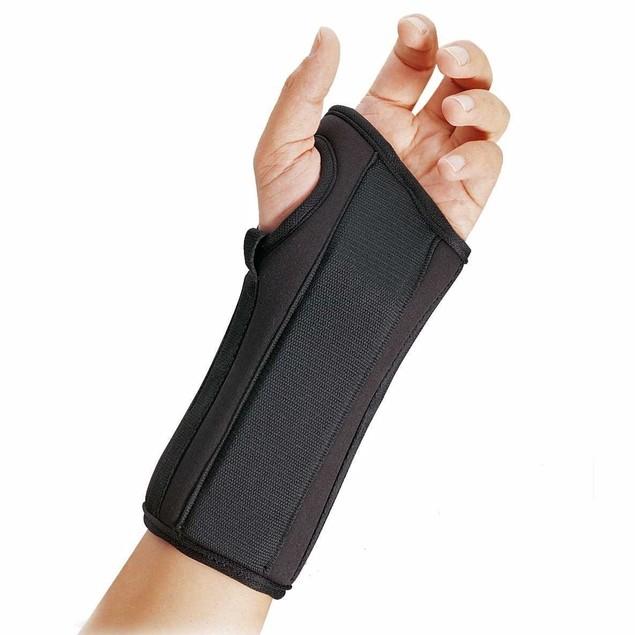 "Fla Prolite Airflow 8"" Left Wrist Splint w/ Abducted Thumb, Large, Black"