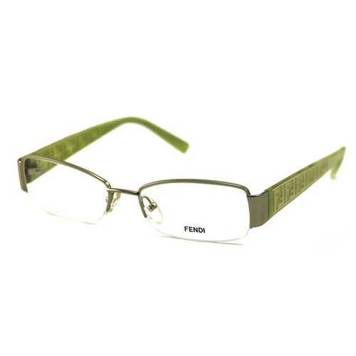 Fendi Women's Eyeglasses F984 799 Silver/Green 53 17 130 Metal Semi Rimless