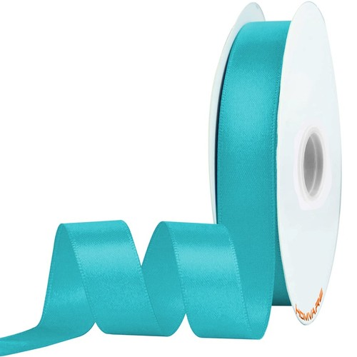 Homvare Silky Double Face Solid Satin Non-Wired Ribbon Roll