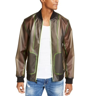 INC International Concepts Men's Transparent Jacket Black Size Large
