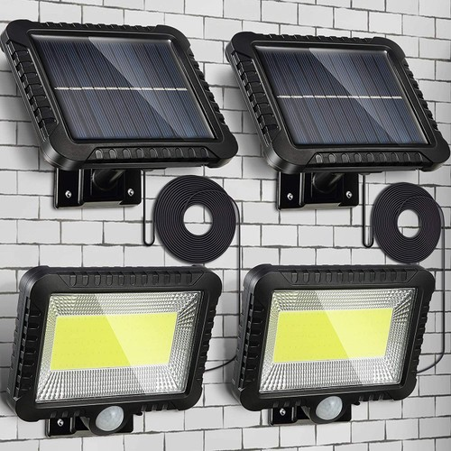 2 Pack: 100 LED Solar Motion Outdoor Security Light
