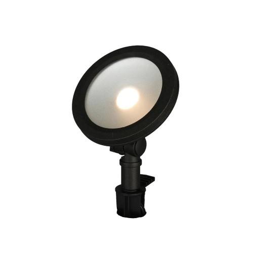 Hampton Bay 9.8-W Adjustable Light Color Outdoor LED Flood Light, Black