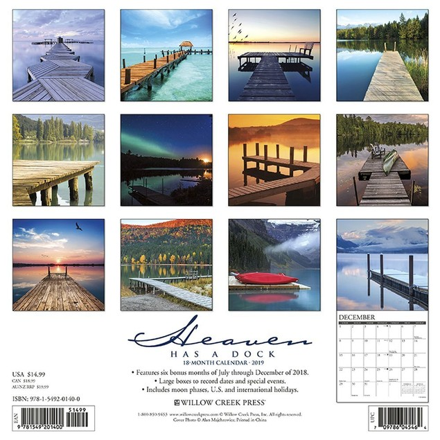 Heaven Has a Dock Wall Calendar, Christian by Calendars