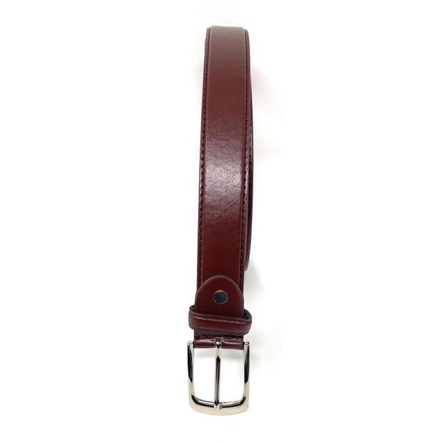 2-Pack Men's Dress Causal Buckle Genuine Leather 1'' Belts Black Brown