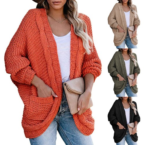 Women's Casual Twisted Rope Bat Sleeve Jacket