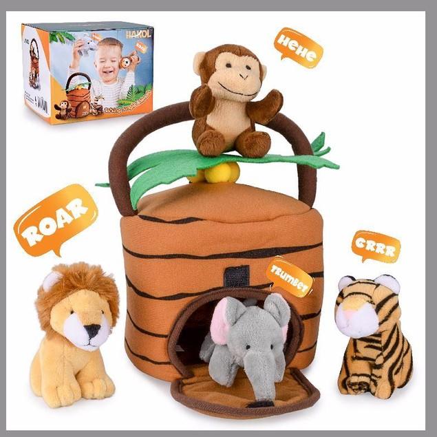 Jungle Educational Set - Realistic Sounding Stuffed Animals