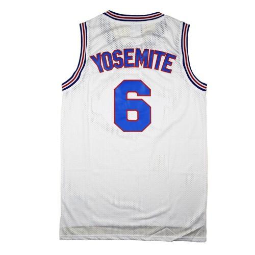 Yosemite Sam #6 Tune Squad White Jersey