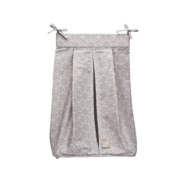 Trend Lab Circles Gray Diaper Stacker