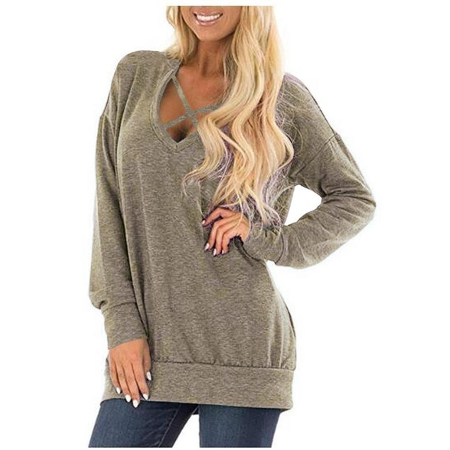 Lightweight Long Sleeve Front Criss Cross Top