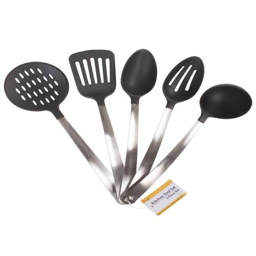 Stainless Steel & Heat Resistant Nylon Kitchen Tool Utensil Set
