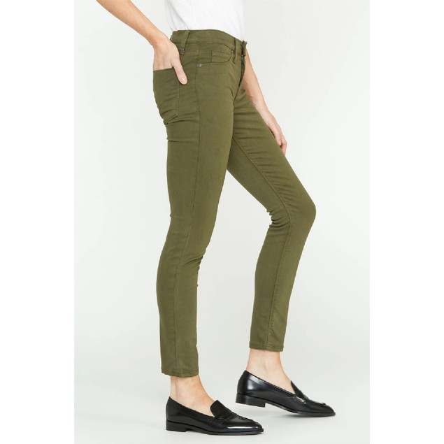 Hudson Jeans Women's Nico Mid-Rise Super-Skinny Jeans Olive Size 28