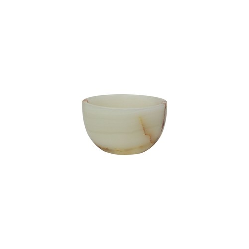 "Spura Home Light Green Onyx Marble 6"" Honed Vintage Finish Nut Bowl"