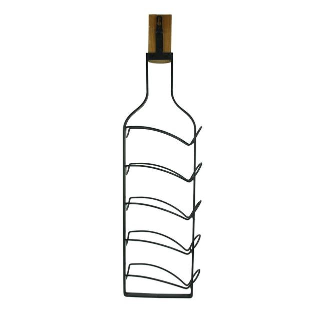 Wine Bottle Shaped 5 Bottle Hanging Wine Rack Wine Racks