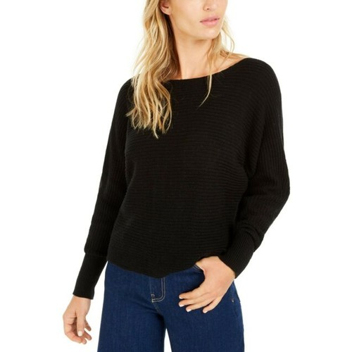 Bar III Women's Dolman-Sleeve Sweater Black Size Medium